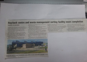 Buy-back centre and waste management sorting facility nears completion